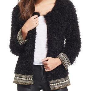 Jessica Simpson faux fur embellished jacket
